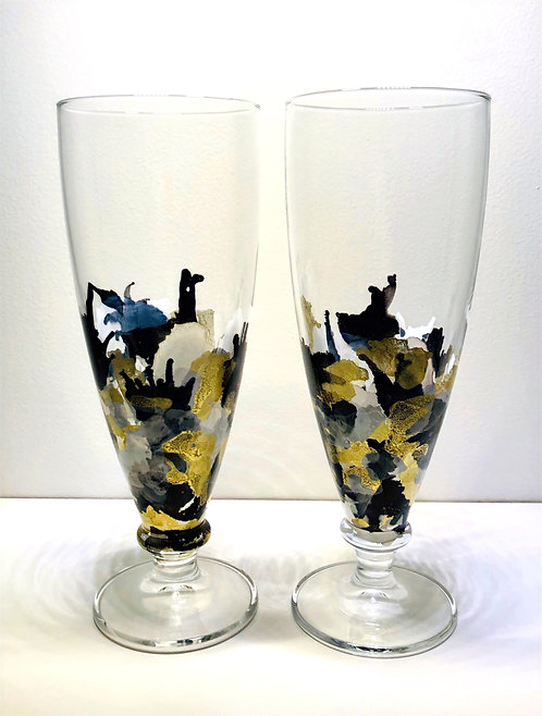 Decorated glassware (various)