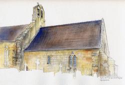 Eglise - aquarelle