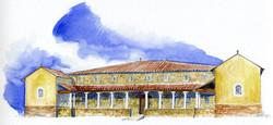 aquarelle villa gallo-romaine