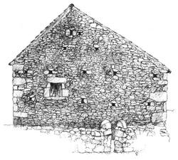 Maison en pierre - bic noir