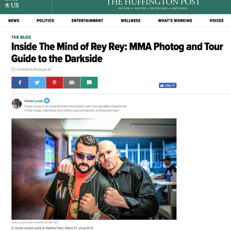 The Huffington Post: Inside The Mind of Rey Rey: MMA Photog and Tour Guide to the Darkside