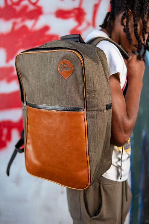 Skunk Urban Backpack-Green w/ leather