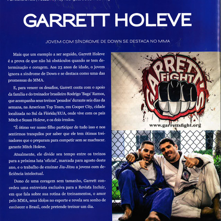 Rey Rey Rodriguez's Photography of MMA fighter Garrett Holeve featured on Revista Incluir Magazi