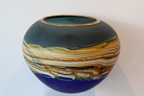 Sage & Cobalt Bowl (large)