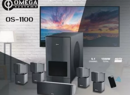 Omega Systems OS-1100, 5.1 Home Theater System, music to our ears.