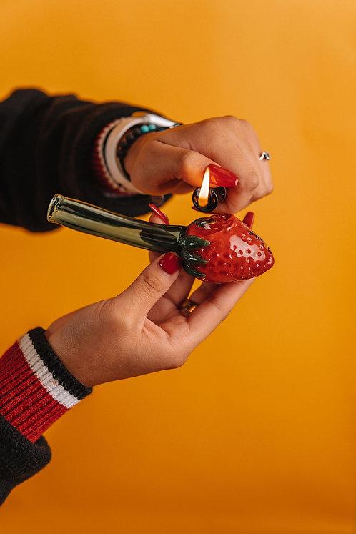 "Hand Pipe - 5"" - Strawberry"