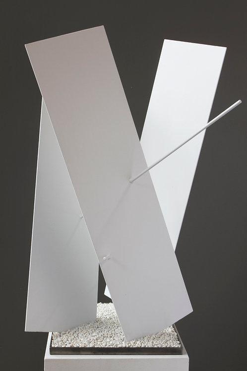 Three Planes, Two Lines (White)