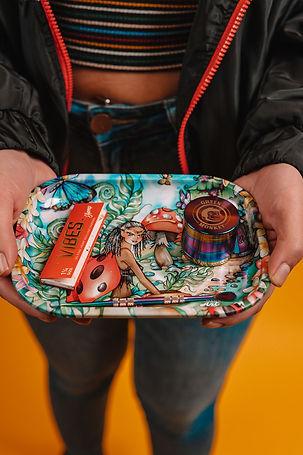Linda Biggs Rolling Tray - Ladybug - Sma