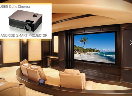 The Aries Optic Cinema Android Smart Projector is here to take over.