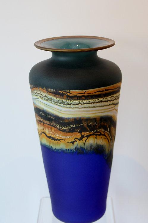 Sage & Cobalt Urn