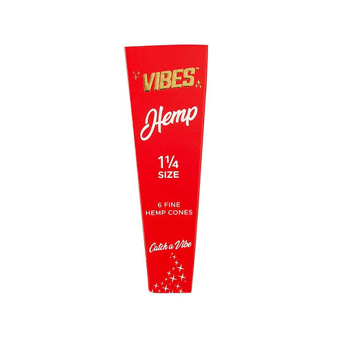 Vibes Cones 1 1/4 - 6pk - Hemp