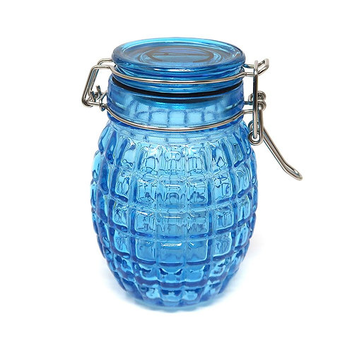 Contained Art - Glass Jar - Grenade - 250mL - Blue