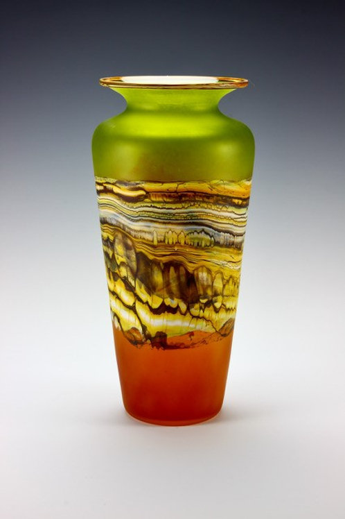 Lime and Tangerine Urn