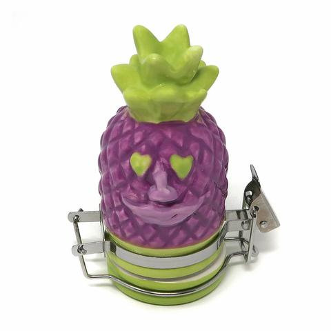 Contained Art - Ceramic Jar - Pineapple Face - 50mL