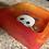 Thumbnail: Ashtray Handmade by ResinDeco - Orange / Red Tie Dye