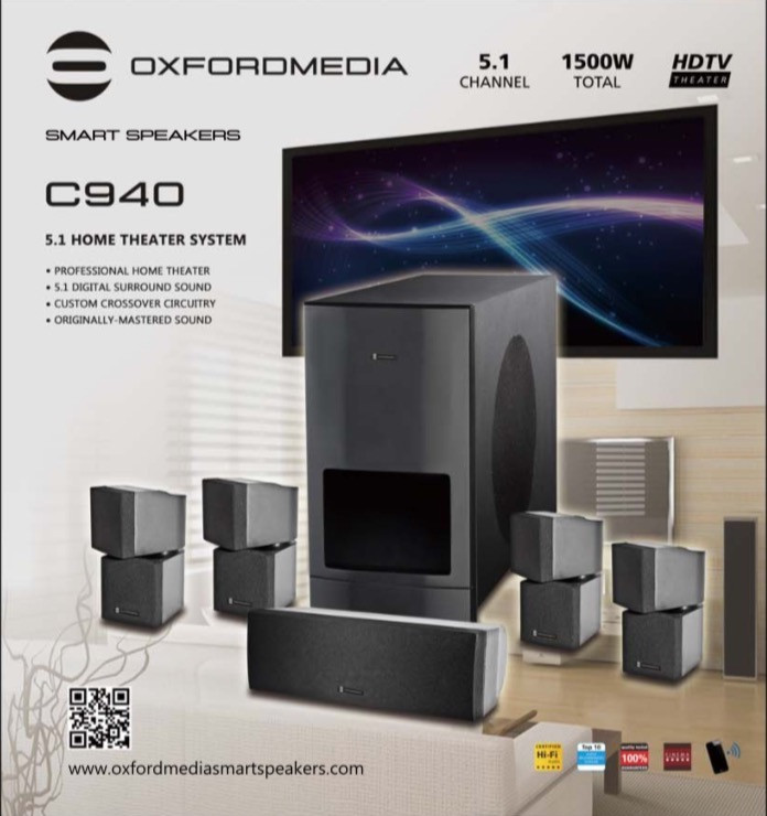 Oxfordmedia C940  5.1 Home Theater System is the #1 Home Theater System