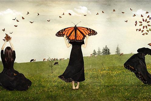 Benevolent World! May Timid Wings Awaken, A Kaleidoscope. (triptych)