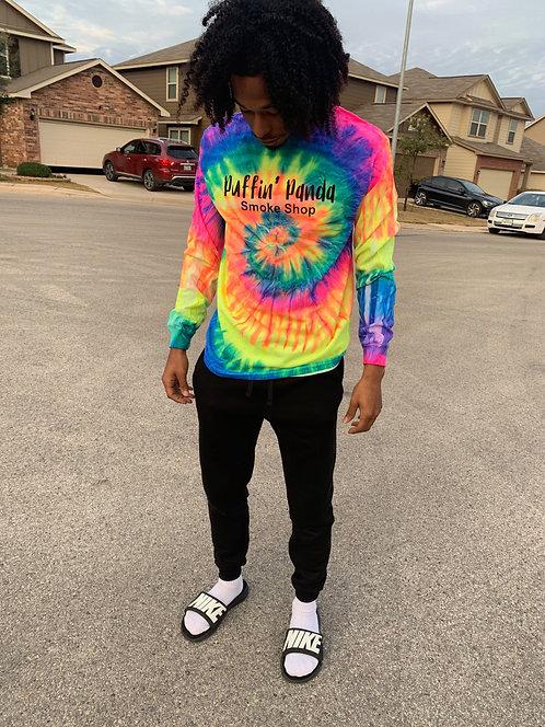 Long Sleeve Shirt - Rainbow Tie Dye