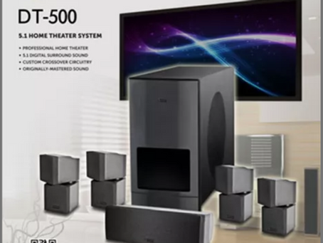 2021's Masterpiece is here: Dynatec Media's DT-500 5.1 Home Theater System.