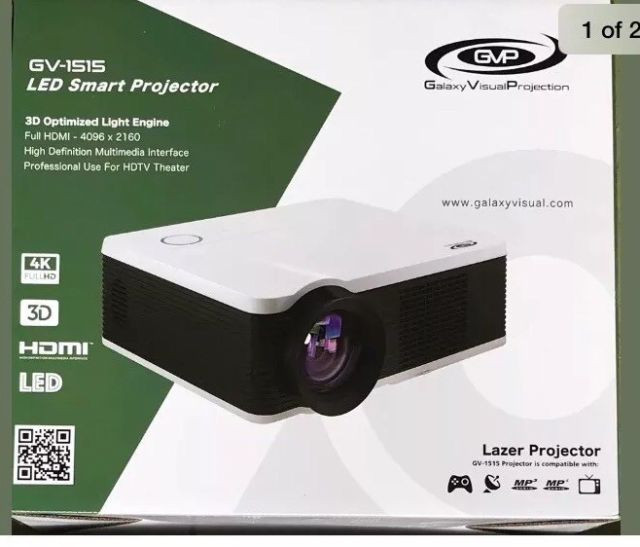 The Galaxy visual GV1515 4K Laser 3D/HD Projector