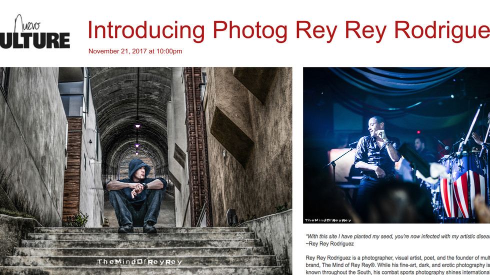 Nuevo Culture: Introducing Photog Rey Rey Rodriguez