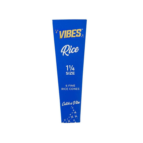 Vibes Cones 1 1/4 - 6pk - Rice