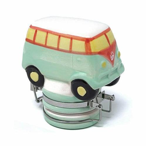 Contained Art - Ceramic Jar - Hippie Bus - 100mL