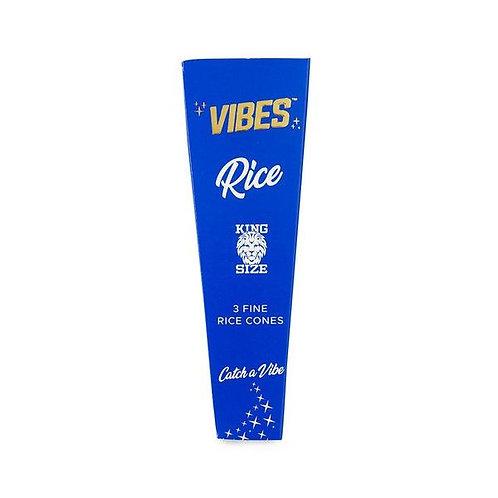 Vibes Cones King Size Slim - 3pk - Rice