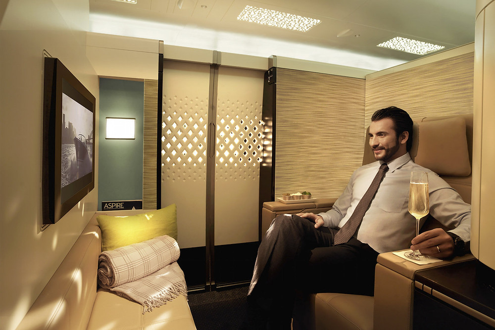 Etihad's Airbus A380 first class suite