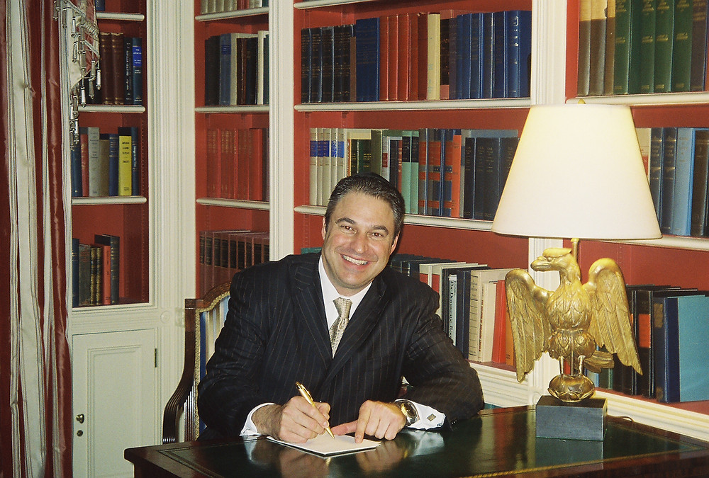 Antony at the White House as a guest of President George W. Bush