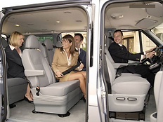 Встреча иностранцев на автобусах