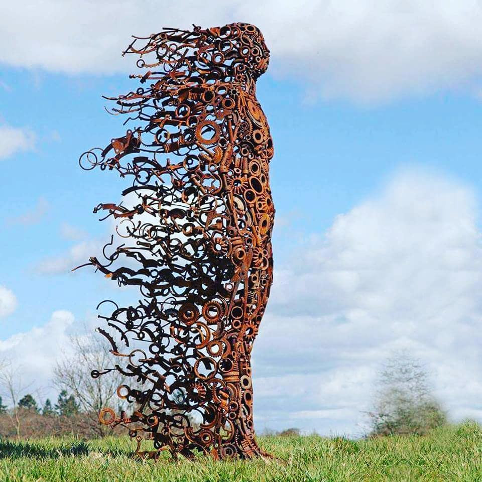 You Blew Me Away Sculpture by Penny Hardy