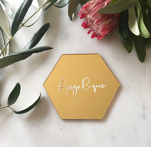 GOLD ACRYLIC PLACE CARD