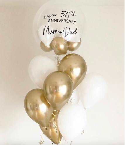 WHITE + GOLD BALLOON BUNDLE