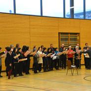 Das Phoenix Vokalensemble beim Adventskonzert 2018 mit dem Deutsch-Japanischen Chor München