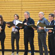 Das Phoenix Vokalensemble beim Adventskonzert 2018
