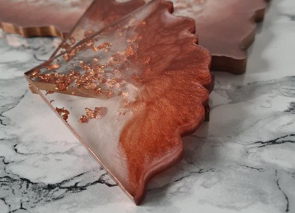 Copper Agate Coasters