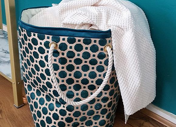 Designer ' Robert Allen ' Geo Linens Storage Basket