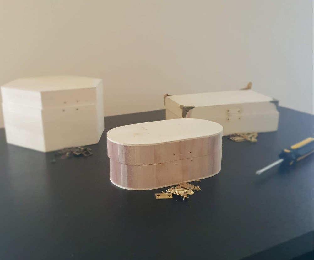 Wooden boxes from The Works