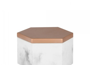PART 1:                                            THE MARBLE & 'HAMMERED' COPPER HEXAGONAL BOX