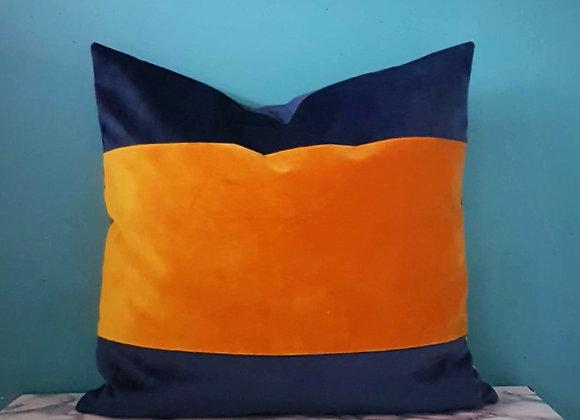 Block panel Velvet Cushion Cover