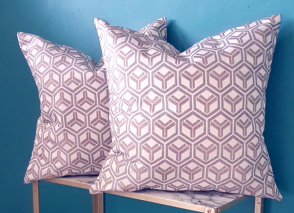 Abstract Y Geo Cushion Cover