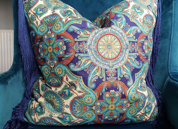 Egyptian Motif 'Valley of Kings' Fringed Cushion