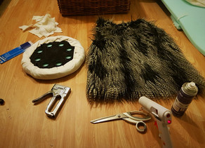 DIY: Ep 1.                               Faux Fur Gold tipped Stool