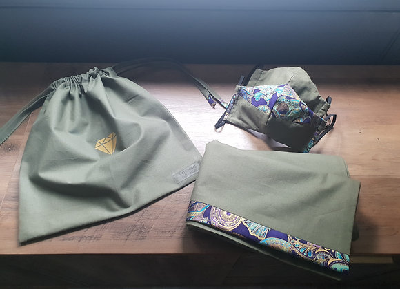 Made to Order Head wrap & Mask set