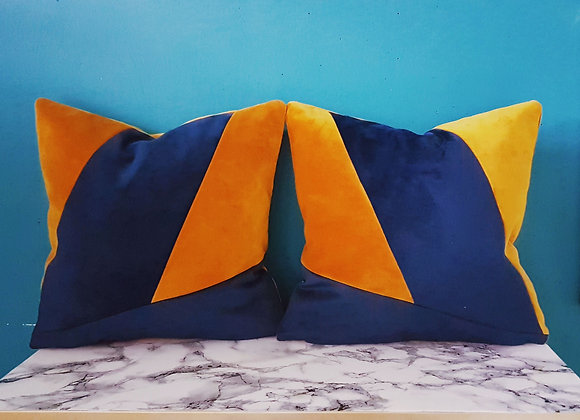 Luxurious Velvet Geo Cushion Set