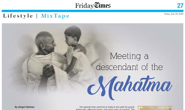 Meeting a descendant of the Mahatma - by Abigail Mathias | Kuwait Times