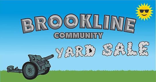 Brookline Community yard sale banner