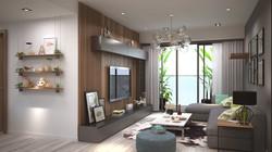 Livingroom & Kitchen Area