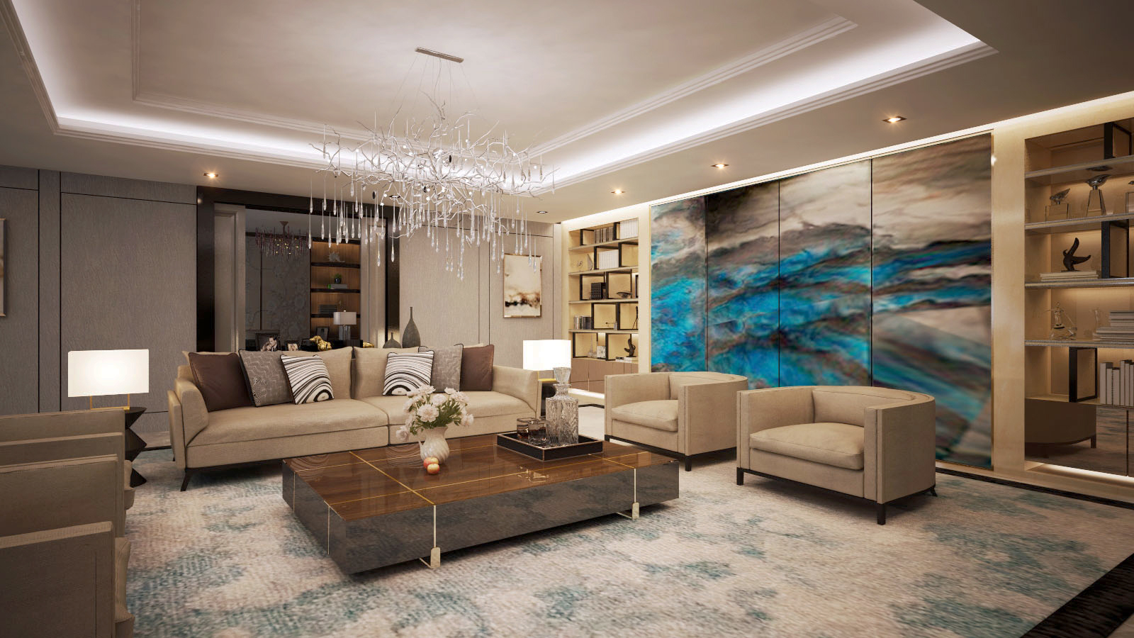 Presedent Livingroom & Dinning Room